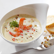 Montagnolo soup with prawns